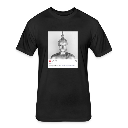 BUDDHA - Fitted Cotton/Poly T-Shirt by Next Level