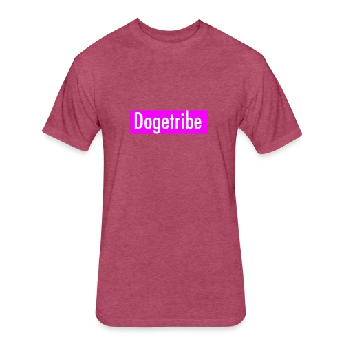 Dogetribe pink logo - Fitted Cotton/Poly T-Shirt by Next Level