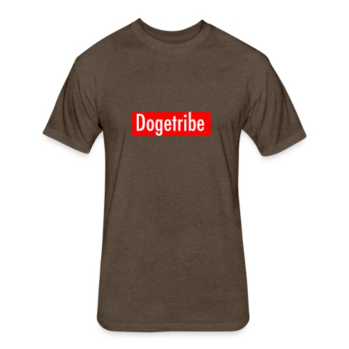 Dogetribe red logo - Fitted Cotton/Poly T-Shirt by Next Level