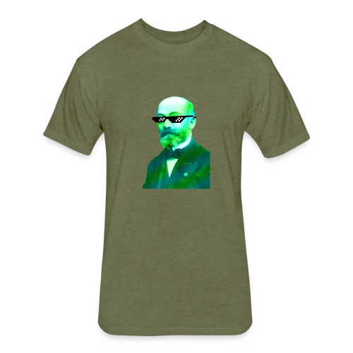 Green and Blue Zamenhof - Fitted Cotton/Poly T-Shirt by Next Level