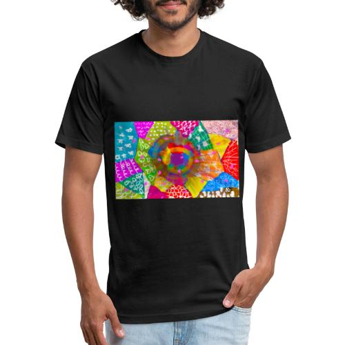 Patchwork - Fitted Cotton/Poly T-Shirt by Next Level