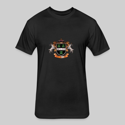 Satanic Heraldry - Coat of Arms - Fitted Cotton/Poly T-Shirt by Next Level