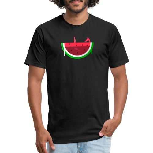 whaterwhale - Fitted Cotton/Poly T-Shirt by Next Level