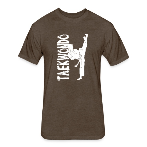 Taekwondo kick right foot - Fitted Cotton/Poly T-Shirt by Next Level