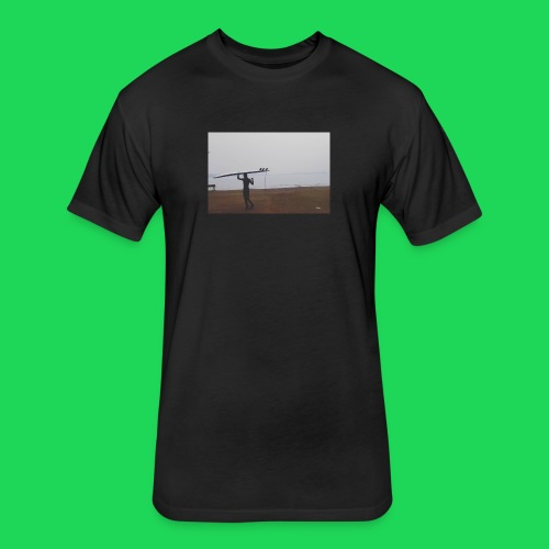 Surfer chick - Fitted Cotton/Poly T-Shirt by Next Level