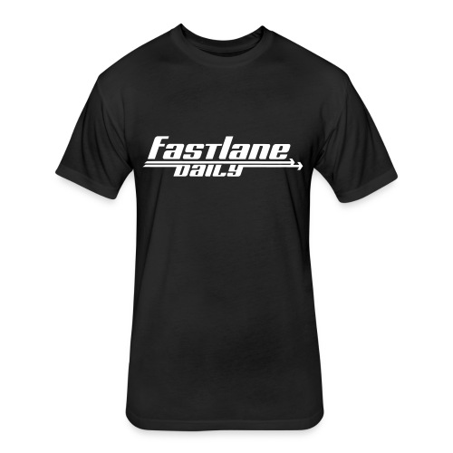 Fast Lane Daily logo - Fitted Cotton/Poly T-Shirt by Next Level
