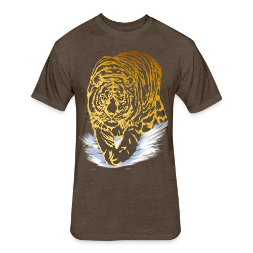 Golden Snow Tiger - Fitted Cotton/Poly T-Shirt by Next Level