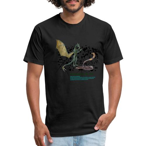 THE DRAGON AND THE SNAKE - Fitted Cotton/Poly T-Shirt by Next Level