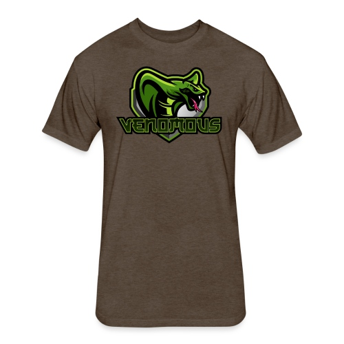 Venomous Text Logo - Fitted Cotton/Poly T-Shirt by Next Level