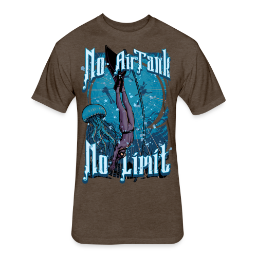 No Air Tank No Limit Freediving merchandise - Fitted Cotton/Poly T-Shirt by Next Level
