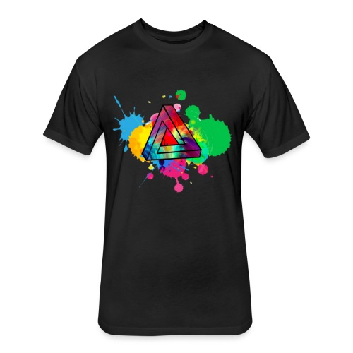 PAINT SPLASH - Fitted Cotton/Poly T-Shirt by Next Level