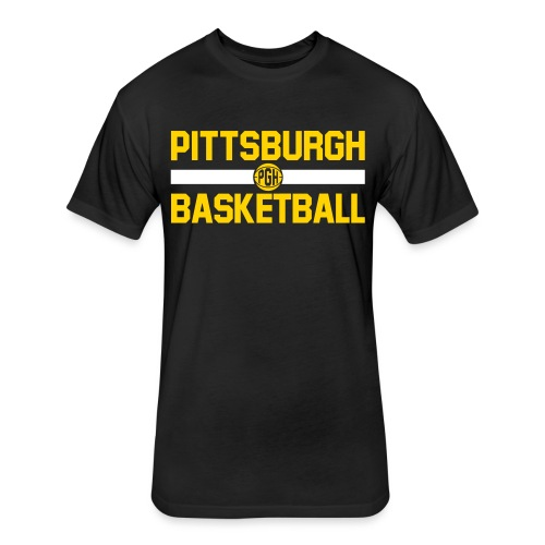 pgh basketball - Fitted Cotton/Poly T-Shirt by Next Level