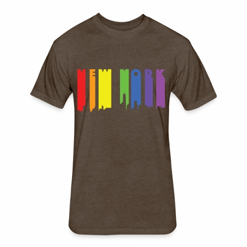 New York design Rainbow - Fitted Cotton/Poly T-Shirt by Next Level