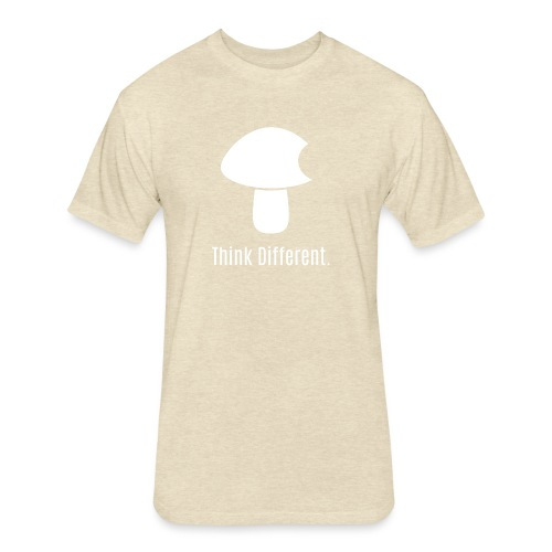 Think Different. - Fitted Cotton/Poly T-Shirt by Next Level