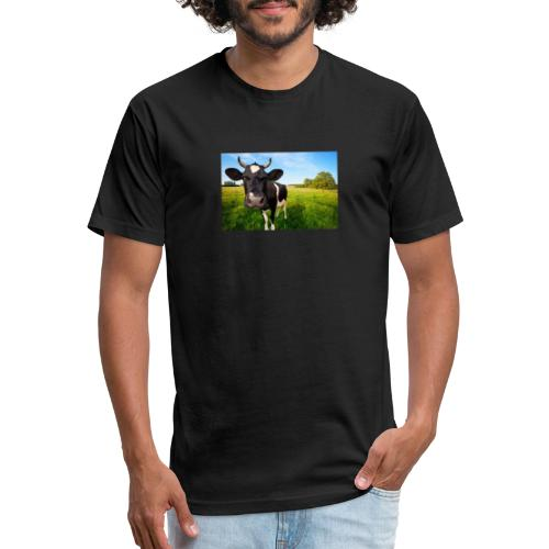 CowFixing - Fitted Cotton/Poly T-Shirt by Next Level