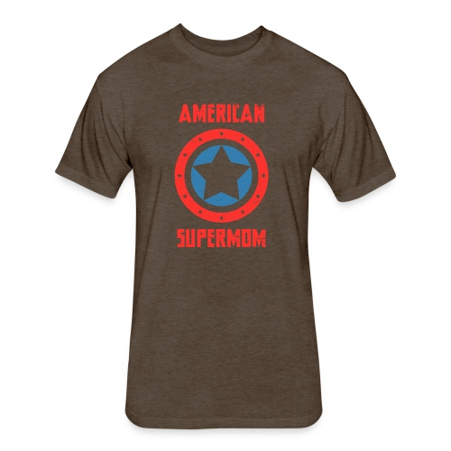American Supermom - Fitted Cotton/Poly T-Shirt by Next Level