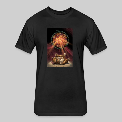 Playful Satanic Kitten - Fitted Cotton/Poly T-Shirt by Next Level