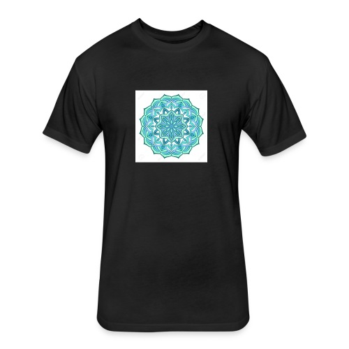 Turquoise mandala - Fitted Cotton/Poly T-Shirt by Next Level
