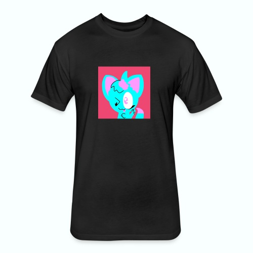 Kittyfoxy - Fitted Cotton/Poly T-Shirt by Next Level