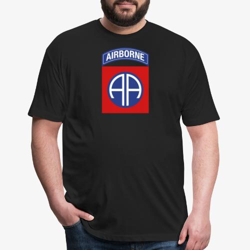 82nd Airborne Division - Fitted Cotton/Poly T-Shirt by Next Level