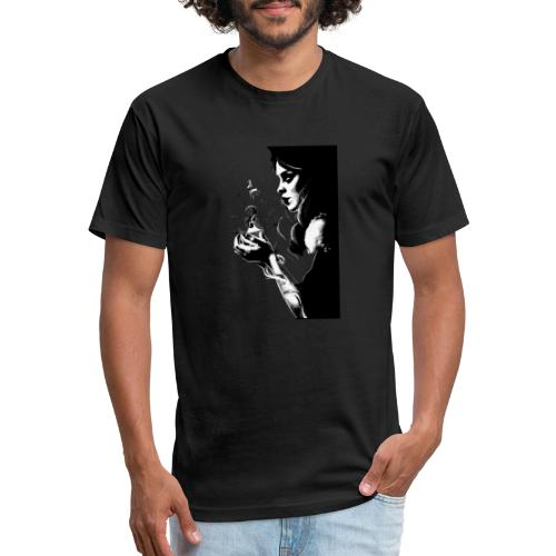 Fire Girl - Fitted Cotton/Poly T-Shirt by Next Level