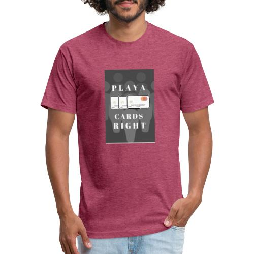 PLAYA CARDS - Fitted Cotton/Poly T-Shirt by Next Level