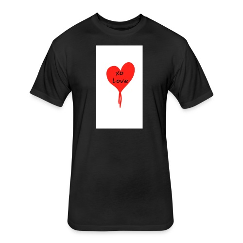 Give Love - Fitted Cotton/Poly T-Shirt by Next Level