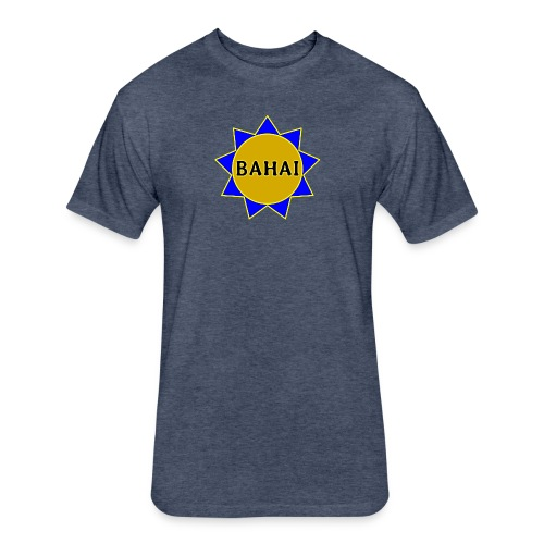 Bahai star - Fitted Cotton/Poly T-Shirt by Next Level