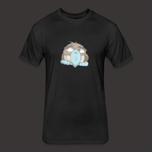 Cute Boobie Bird - Fitted Cotton/Poly T-Shirt by Next Level