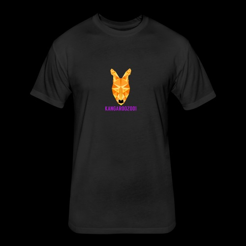 Kangaroozoo1 Logo & Name - Fitted Cotton/Poly T-Shirt by Next Level