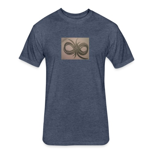 Infinity - Fitted Cotton/Poly T-Shirt by Next Level