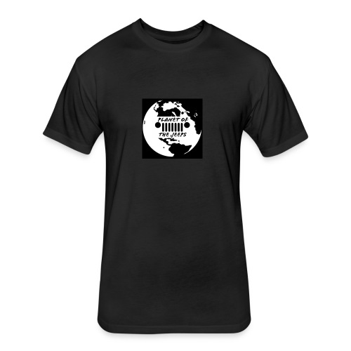 jeep logo white logo - Fitted Cotton/Poly T-Shirt by Next Level
