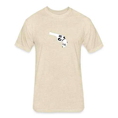 Gun - Fitted Cotton/Poly T-Shirt by Next Level