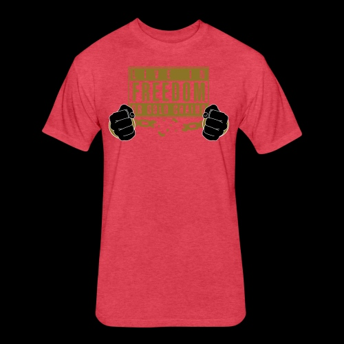 Live Free - Fitted Cotton/Poly T-Shirt by Next Level