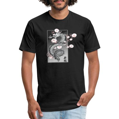 Cherry Dragon - Fitted Cotton/Poly T-Shirt by Next Level