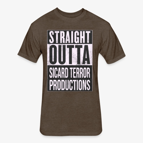Strait Out Of Sicard Terror Productions - Fitted Cotton/Poly T-Shirt by Next Level