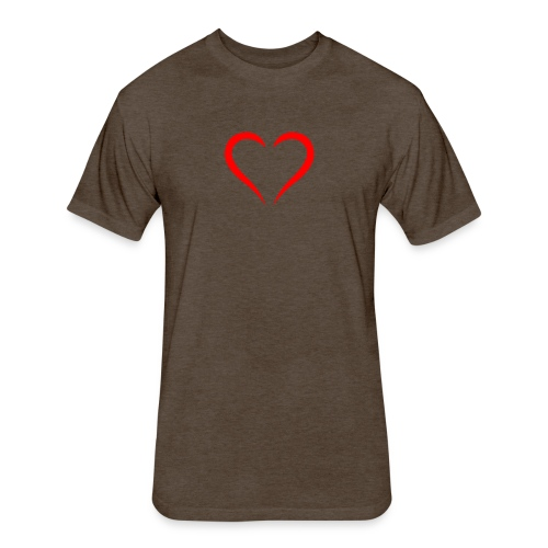 open heart - Fitted Cotton/Poly T-Shirt by Next Level