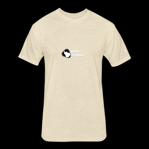 Music Tutorials Logo - Fitted Cotton/Poly T-Shirt by Next Level