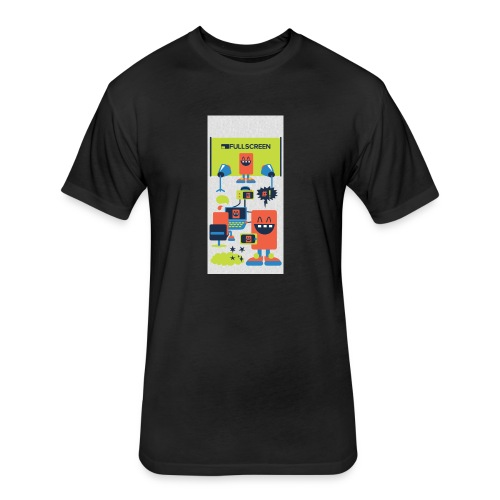 iphone5screenbots - Fitted Cotton/Poly T-Shirt by Next Level