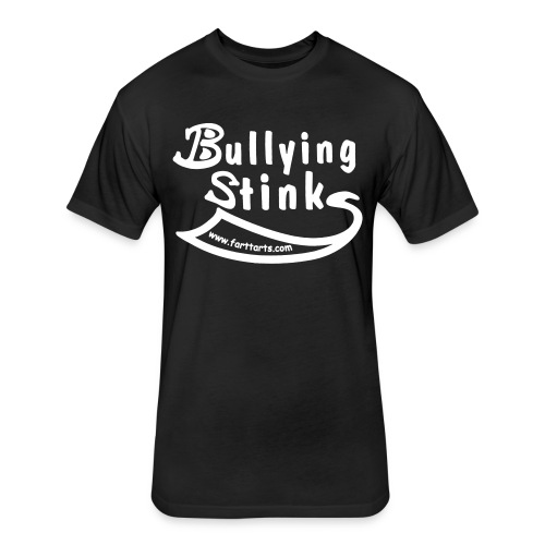 Bullying Stinks! - Fitted Cotton/Poly T-Shirt by Next Level