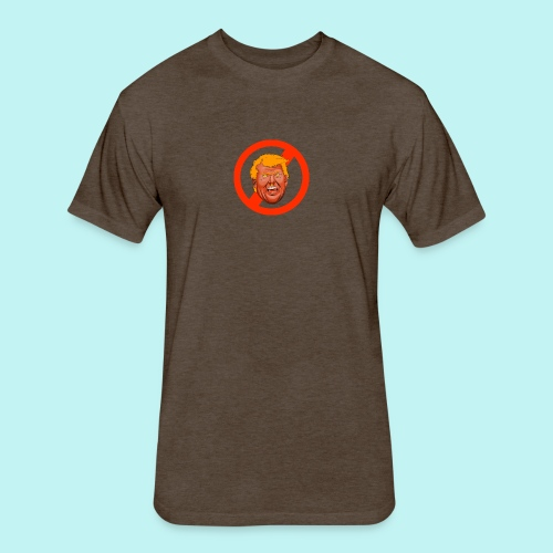 Dump Trump - Fitted Cotton/Poly T-Shirt by Next Level