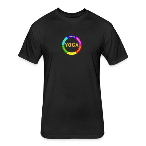 6 ways of Yoga - Fitted Cotton/Poly T-Shirt by Next Level