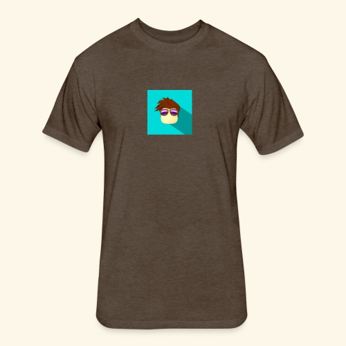 NixVidz Youtube logo - Fitted Cotton/Poly T-Shirt by Next Level