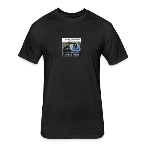 Friends down for friends - Fitted Cotton/Poly T-Shirt by Next Level