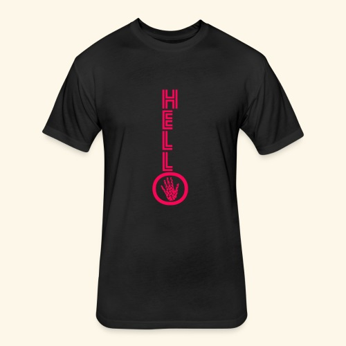 Hello Key 1 - Fitted Cotton/Poly T-Shirt by Next Level