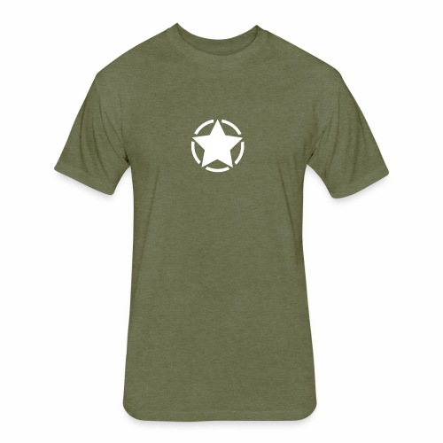 Staff starr 5pt white 14 16 - Fitted Cotton/Poly T-Shirt by Next Level