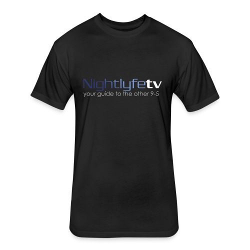 NTV Logo Front & Back - Fitted Cotton/Poly T-Shirt by Next Level