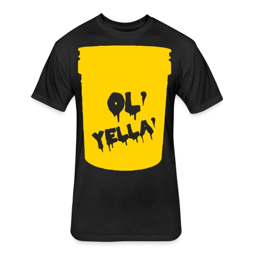 Ol Yella Tee - Fitted Cotton/Poly T-Shirt by Next Level
