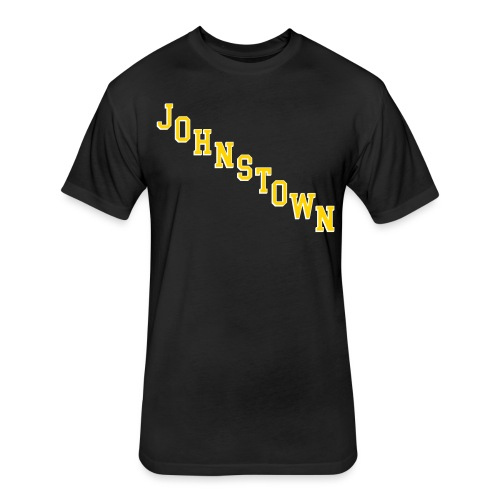 Johnstown Diagonal - Fitted Cotton/Poly T-Shirt by Next Level