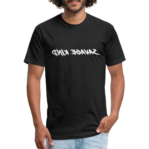 Savage Kind - Mirrored! - Fitted Cotton/Poly T-Shirt by Next Level